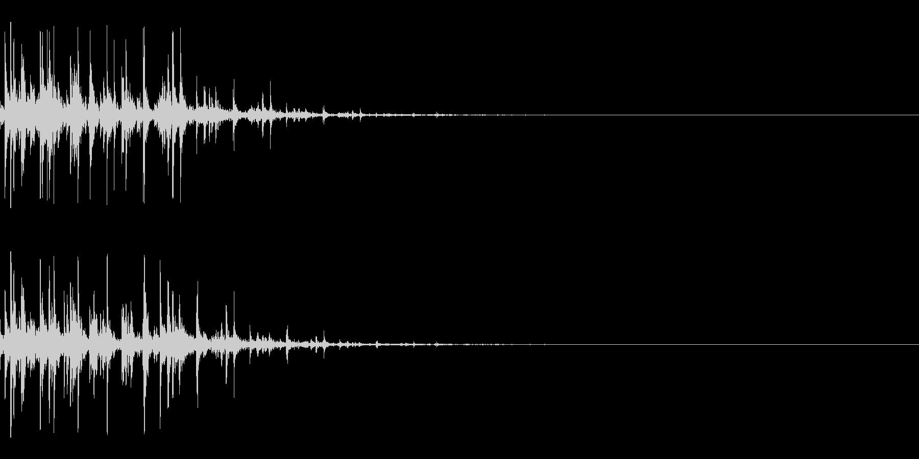 積木のやさしい音 崩れる ばらばらの未再生の波形