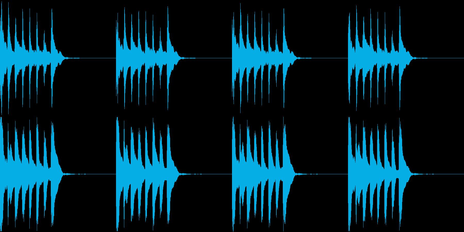 シンプル ベル 着信音 チャイム C11の再生済みの波形