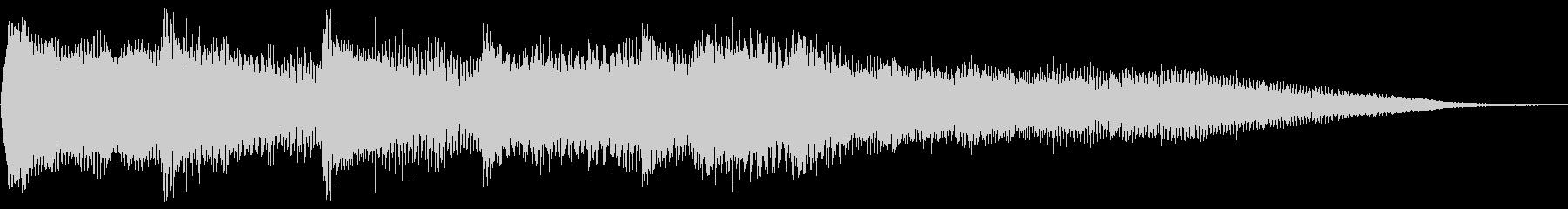 サウンドロゴ、ジングルの未再生の波形