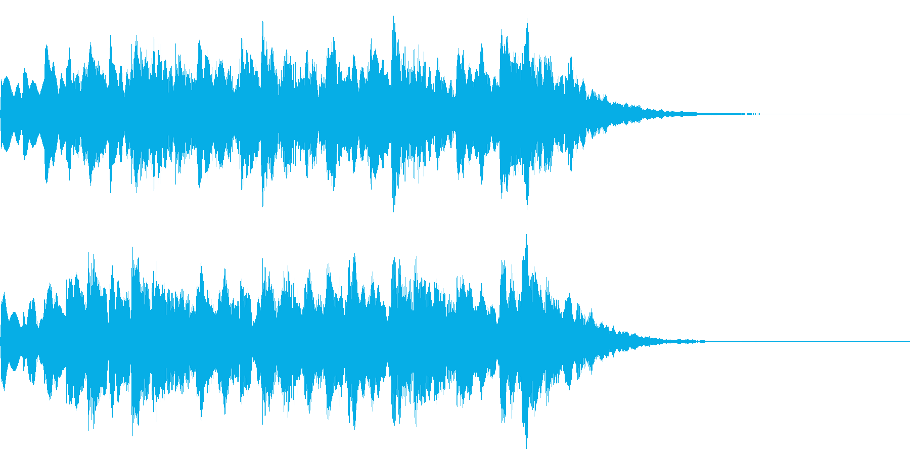 着信音 美しいメロディの後にキラキラの再生済みの波形