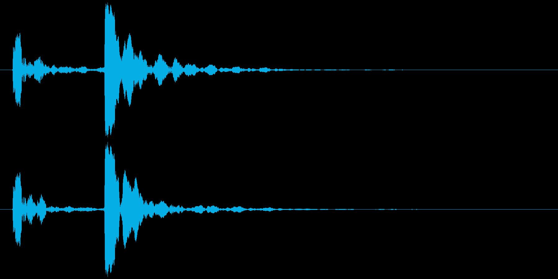 水滴 一滴 ピチョン(鋭い)の再生済みの波形