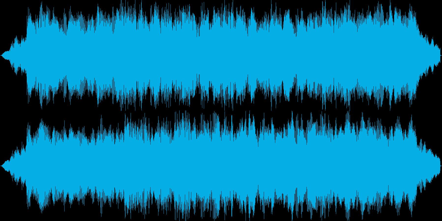 オーケストラの軽快なジングルの再生済みの波形