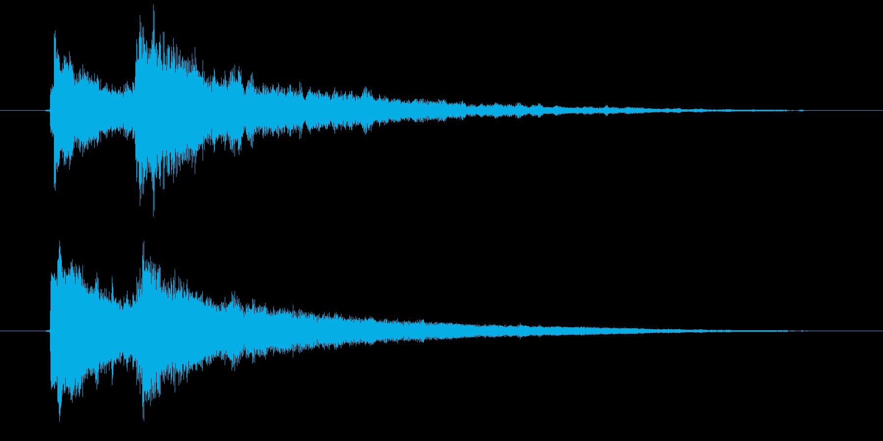 クイズ正解音(ピンポン)4の再生済みの波形