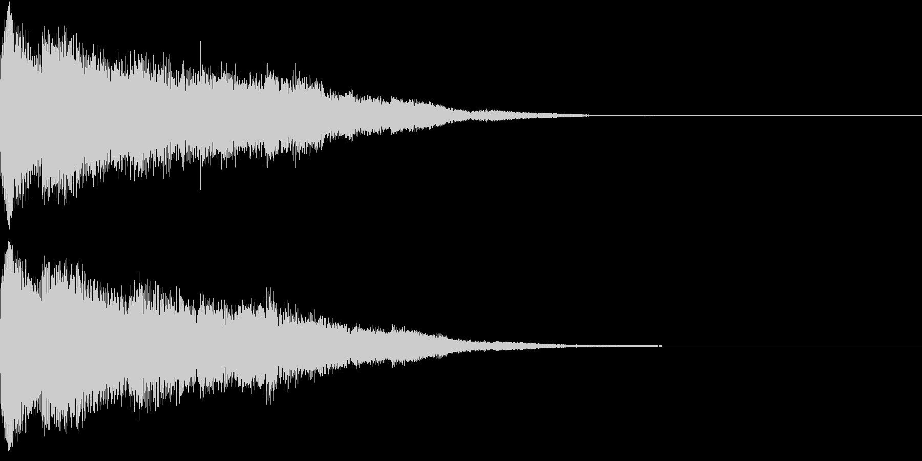 ピコン ピコ チャリン キラーンの未再生の波形