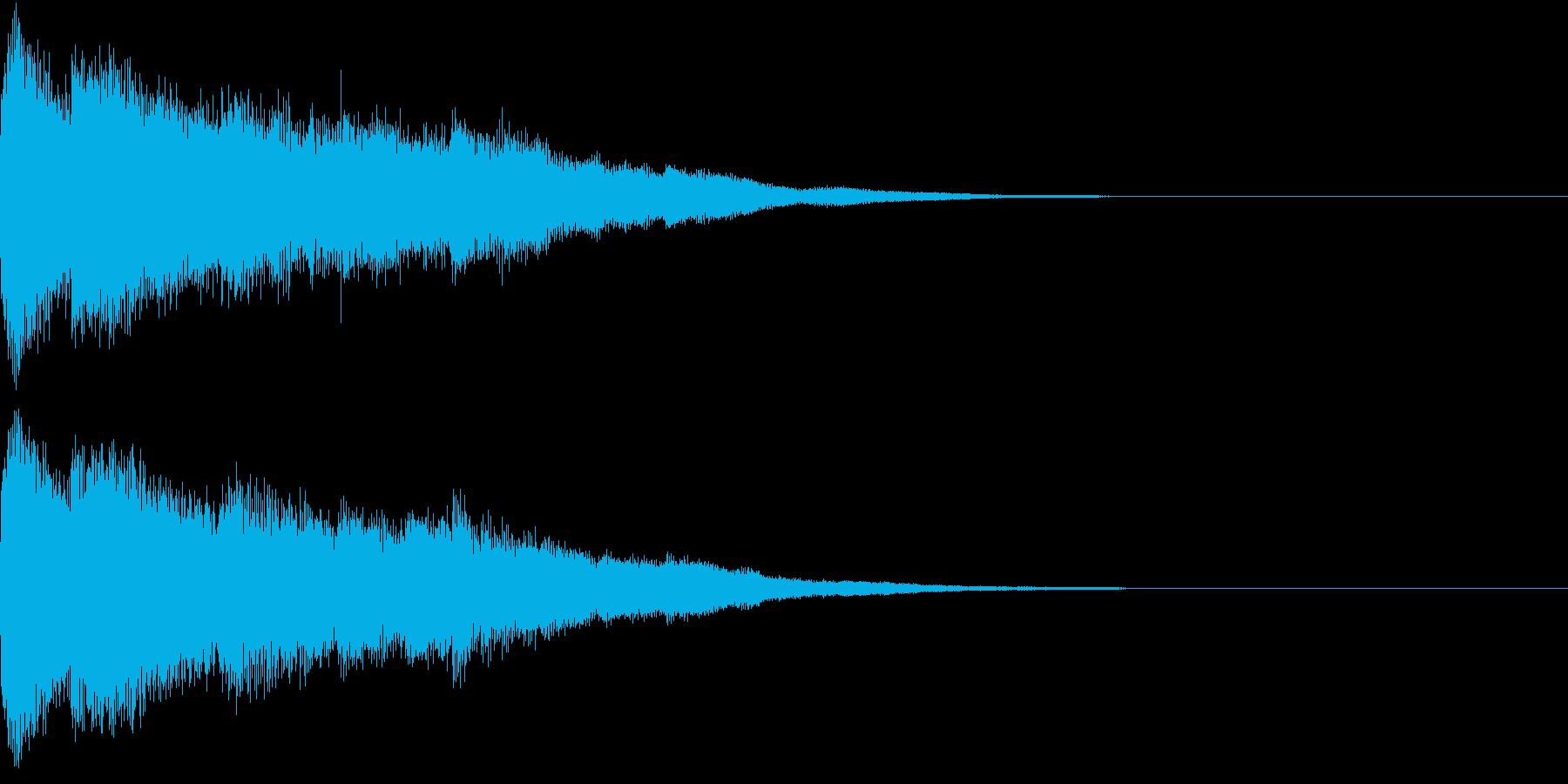 ピコン ピコ チャリン キラーンの再生済みの波形