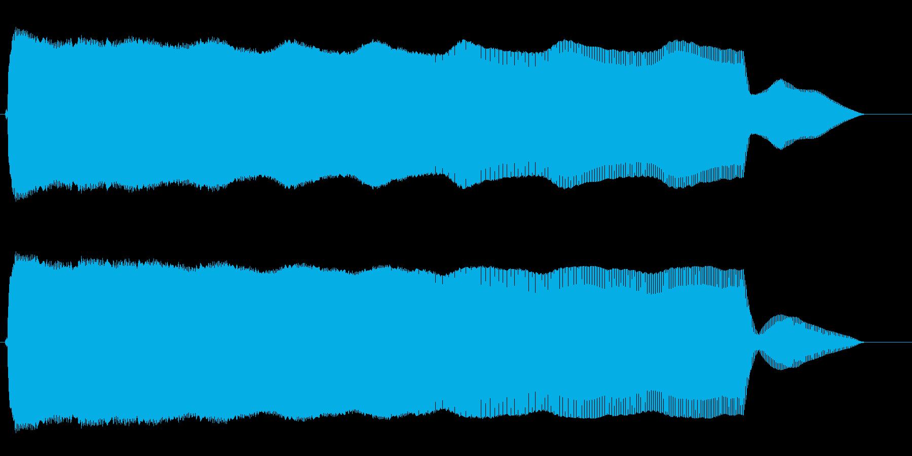 ピュゥゥ〜ン(落下の音)の再生済みの波形