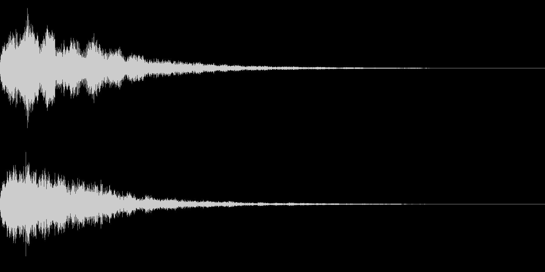 明るいテロップ音 ボタン音 決定音!03の未再生の波形