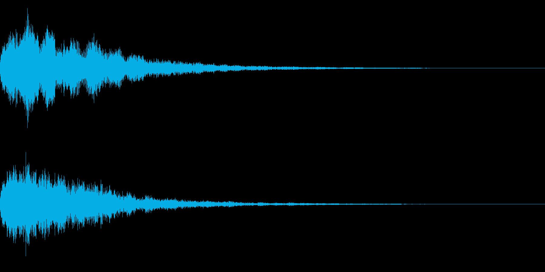 明るいテロップ音 ボタン音 決定音!03の再生済みの波形