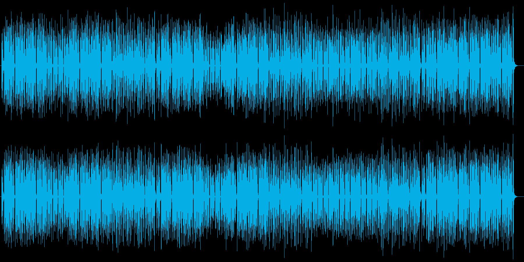 アップテンポで愛らしいポップスの再生済みの波形
