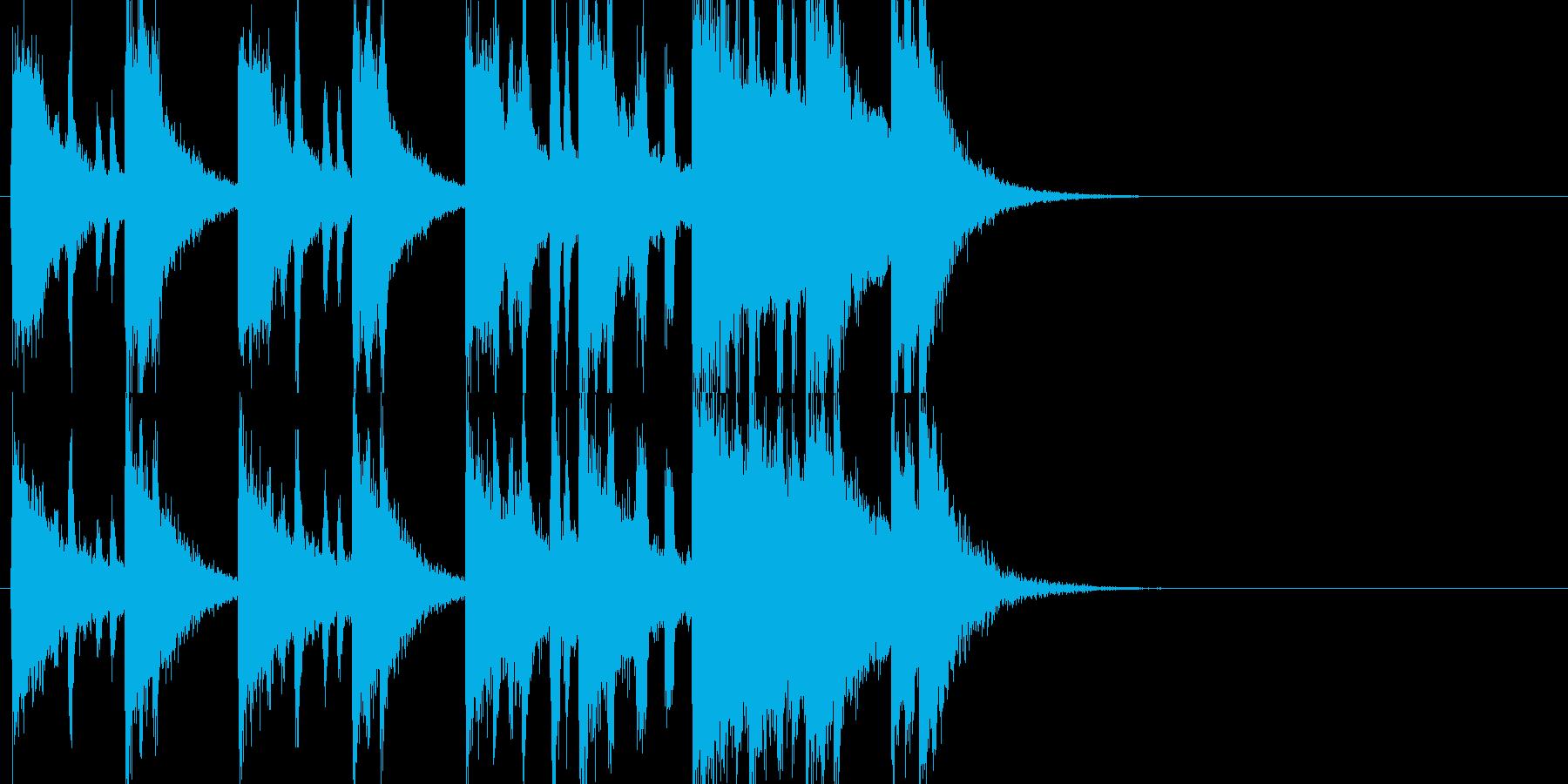 勇ましい感じのファンファーレの再生済みの波形