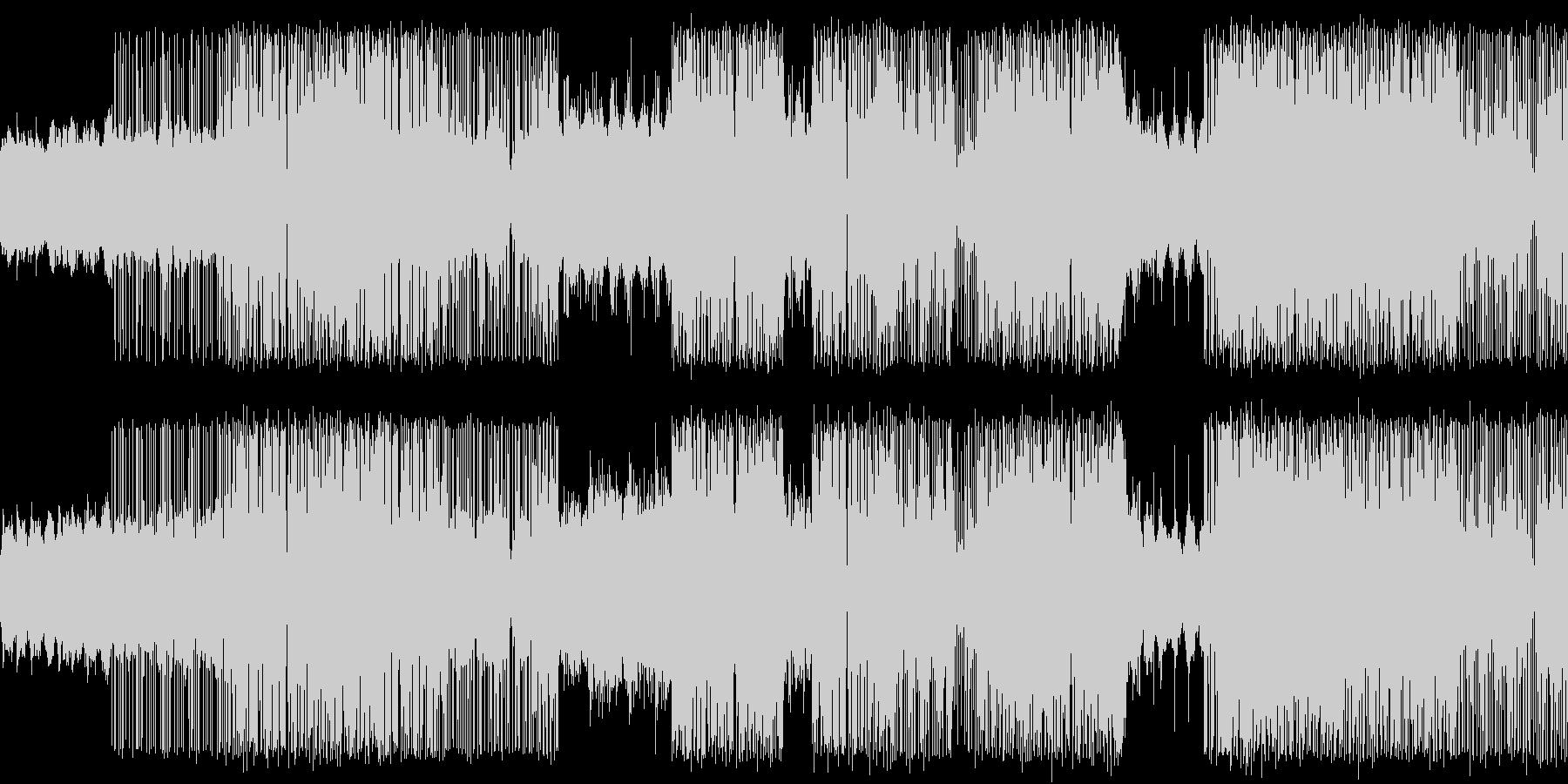 グリッチ系の緊張感のあるエレクトロの未再生の波形
