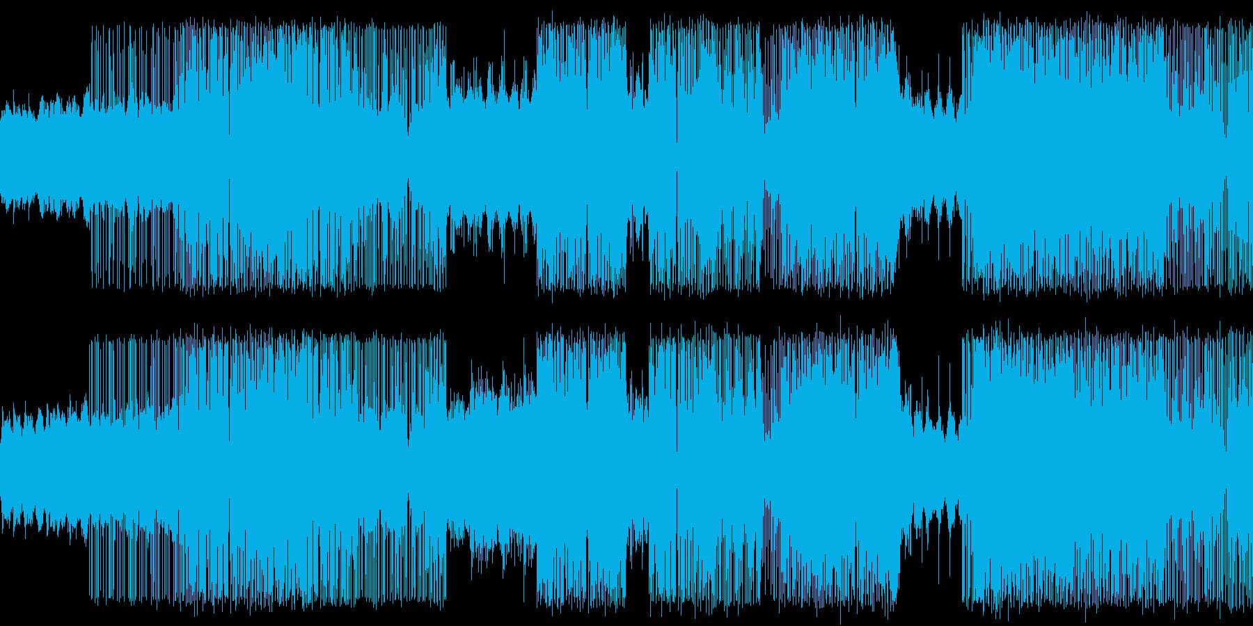 グリッチ系の緊張感のあるエレクトロの再生済みの波形