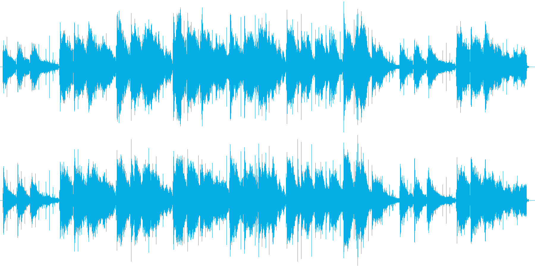 ピアノとタイピングで綴る思い出の再生済みの波形