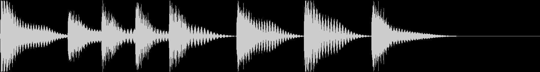 着信音 ループ お知らせ 通知 海 1の未再生の波形