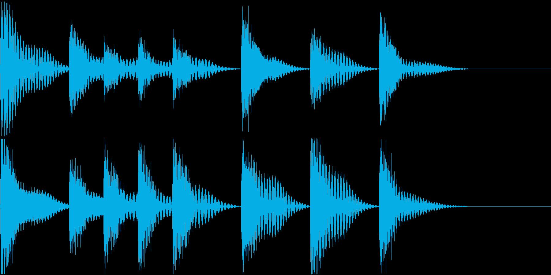 着信音 ループ お知らせ 通知 海 1の再生済みの波形