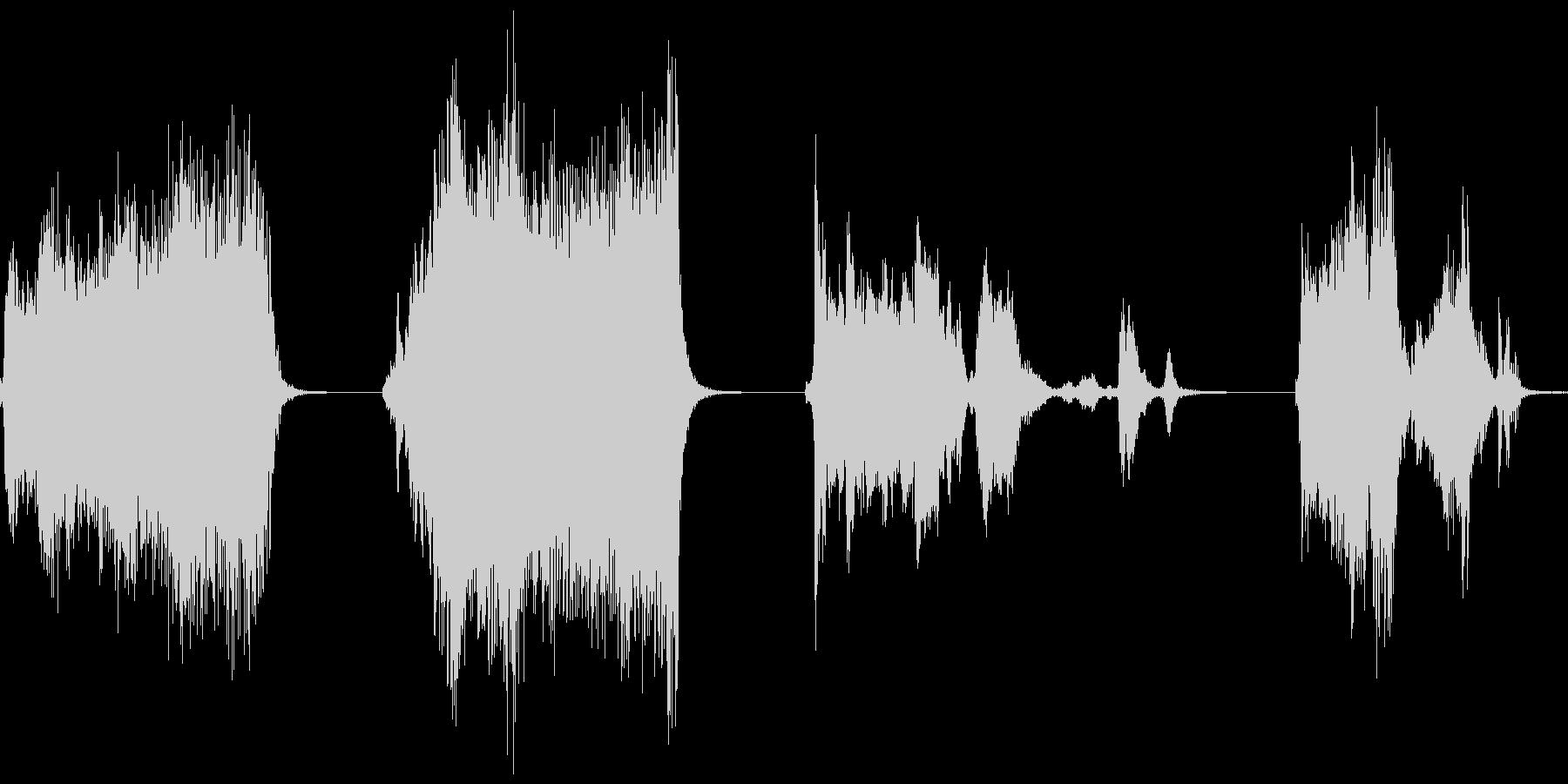 ギギギ…ギィギイときしむ音のセットですの未再生の波形