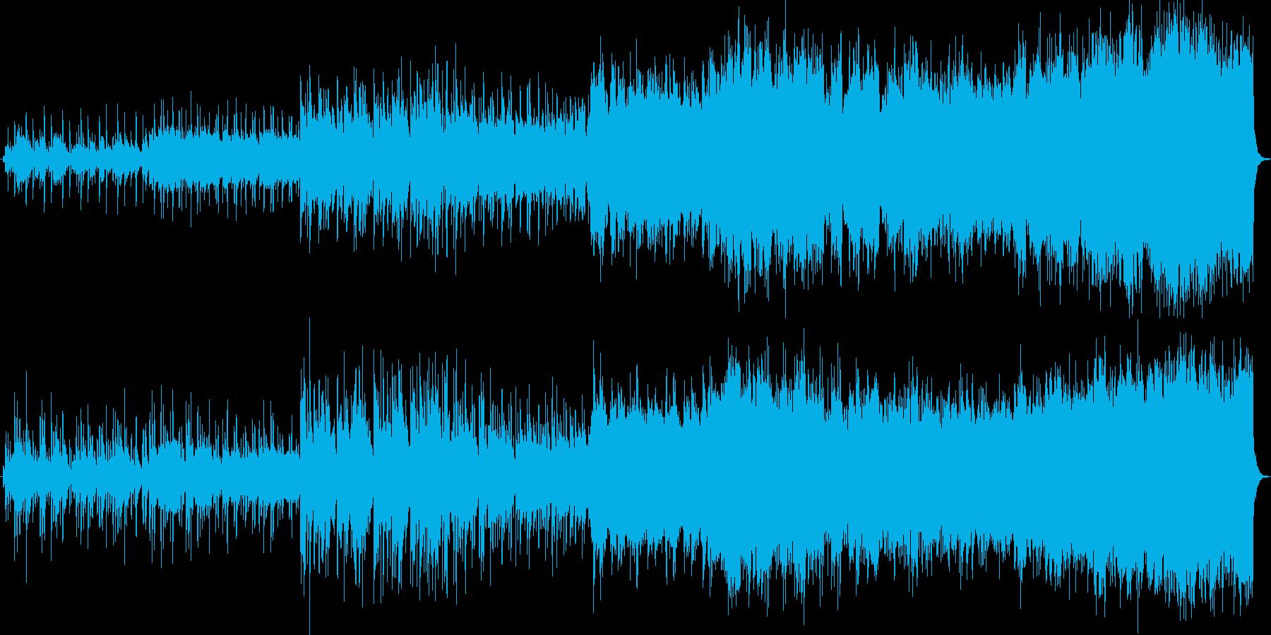 癒し系バラード。切なく盛り上がるBGMの再生済みの波形