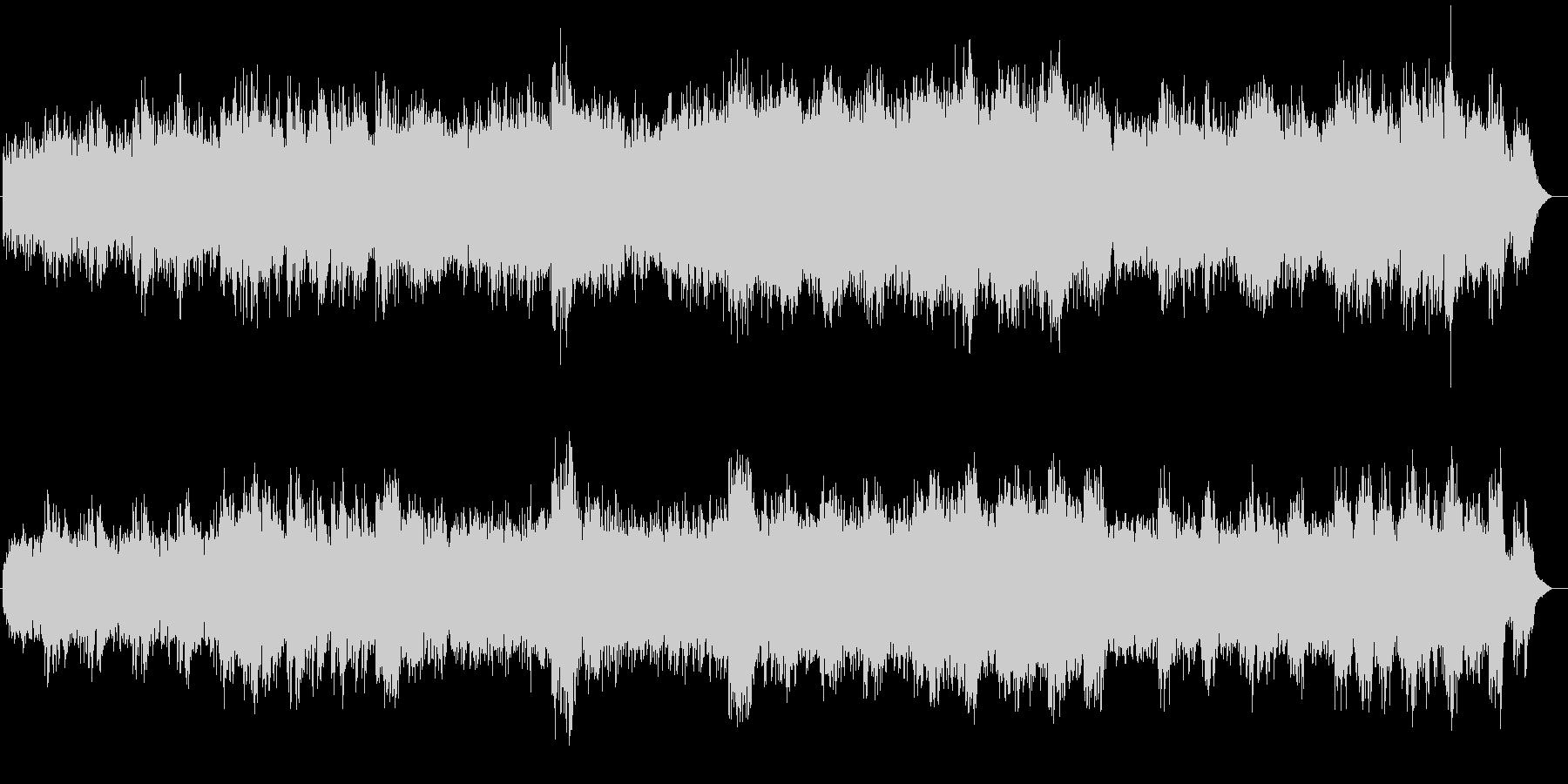 優しく透き通るシンセサイザーサウンドの未再生の波形