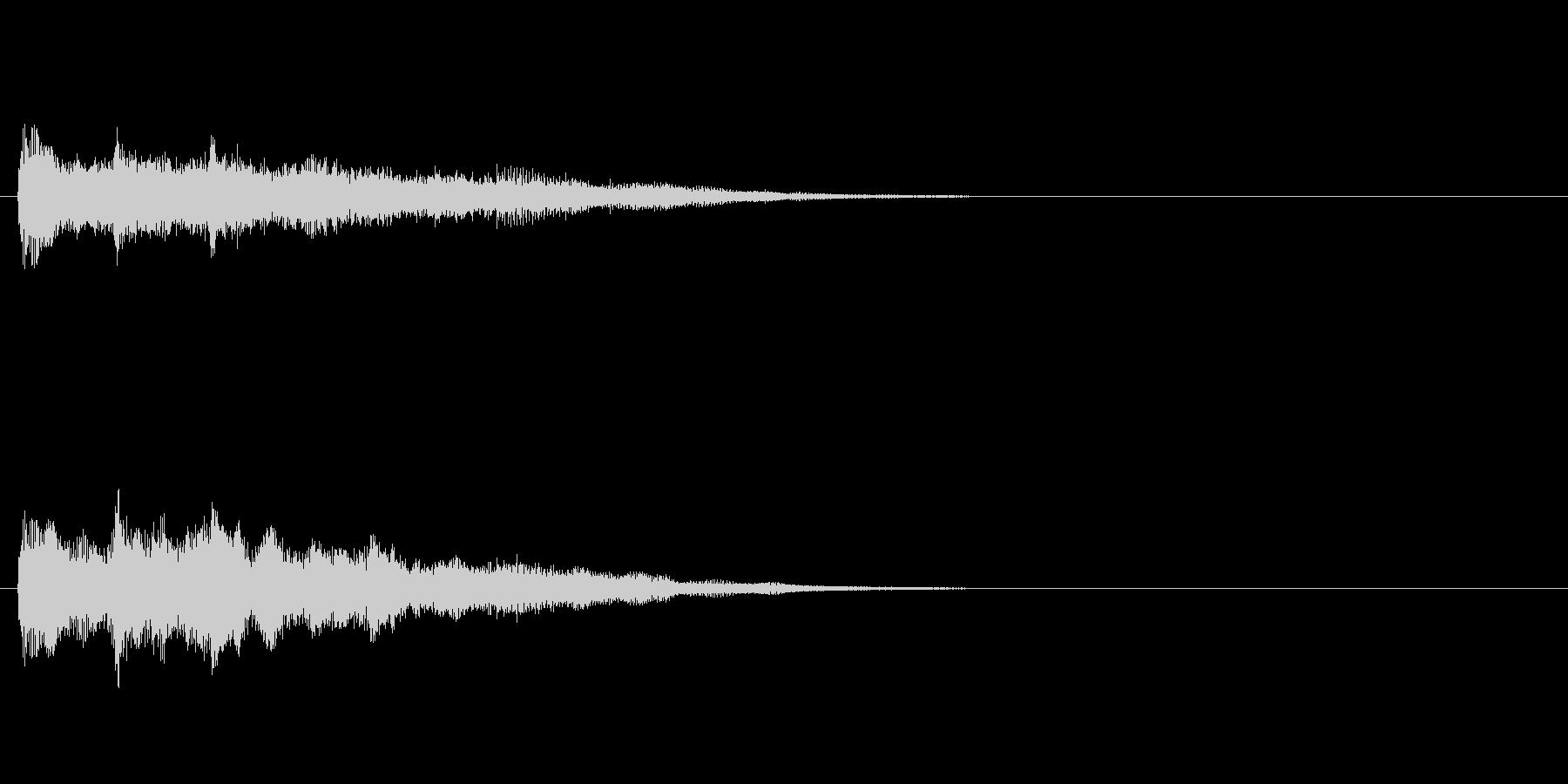 ジングル(ミステリアス風)の未再生の波形