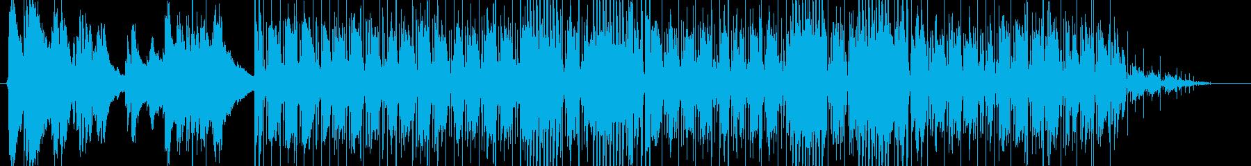 フィンガースタイルのリフ ブルースの再生済みの波形