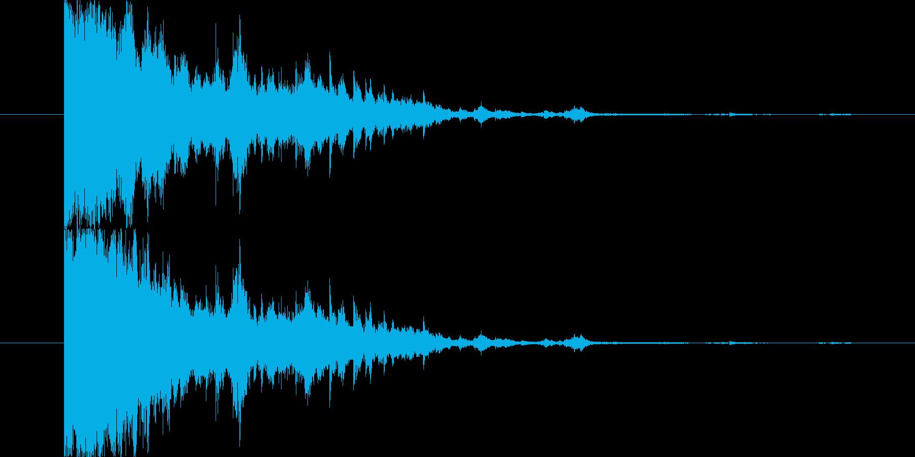 アタックのあるキラキラ〜の再生済みの波形