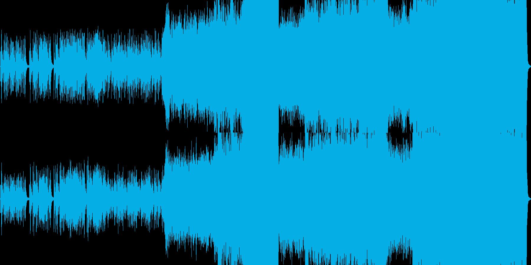 映画音楽風の壮大なオーケーストラ曲の再生済みの波形