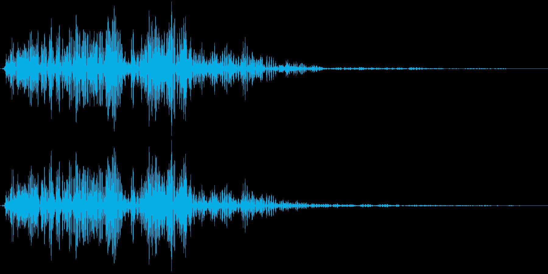 ボタン押下や決定音_ポイッ!の再生済みの波形