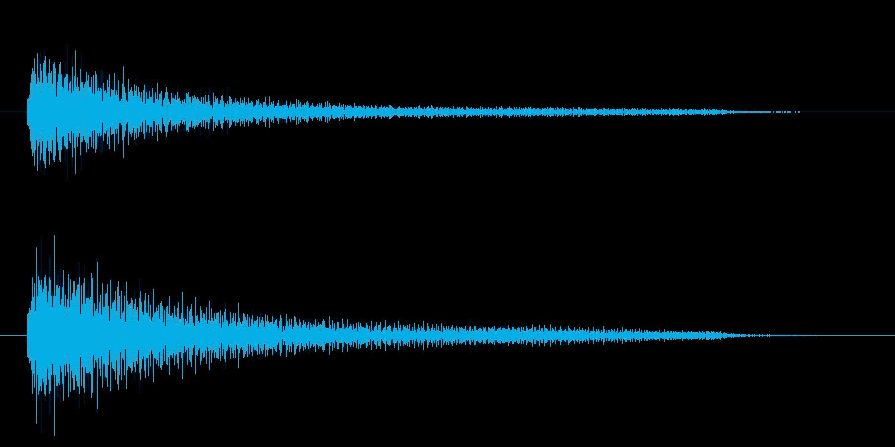 ピアノのお洒落なアクセント(2秒)の再生済みの波形