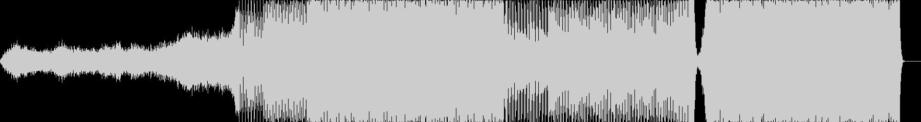シンセを用いたノリのあるライブ演出BGMの未再生の波形