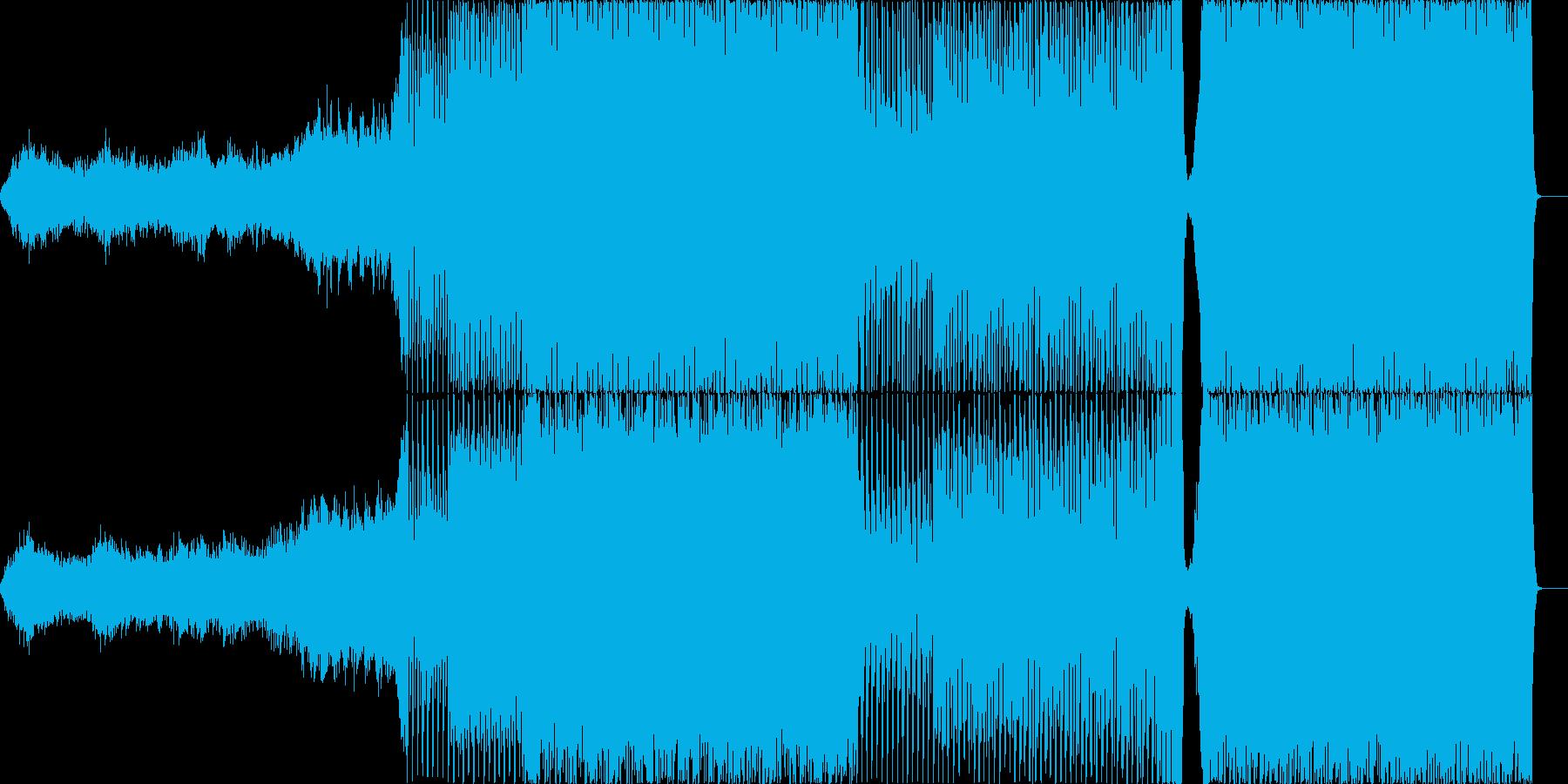 シンセを用いたノリのあるライブ演出BGMの再生済みの波形