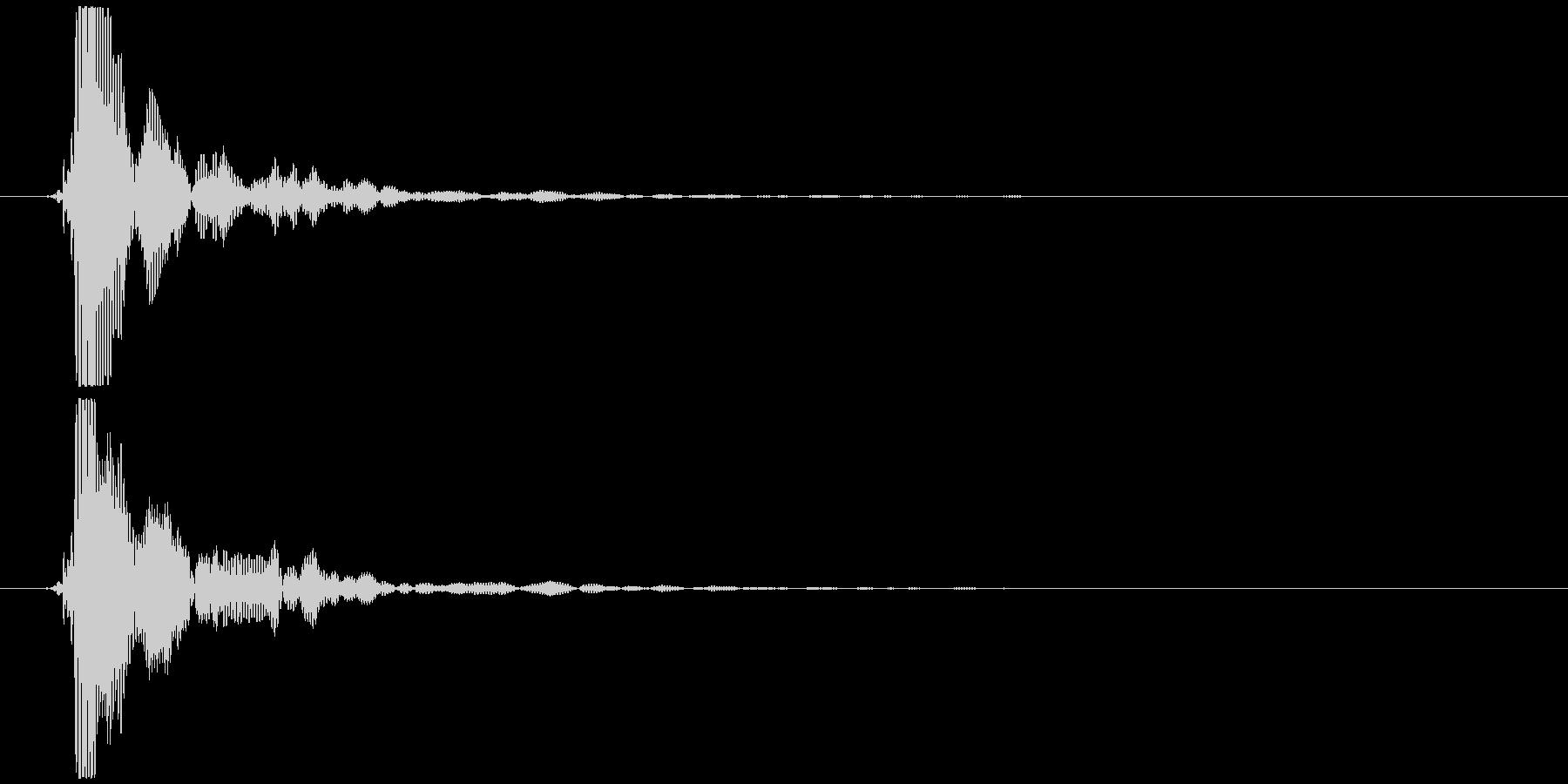 ポン (テロップ音、選択音風)③の未再生の波形