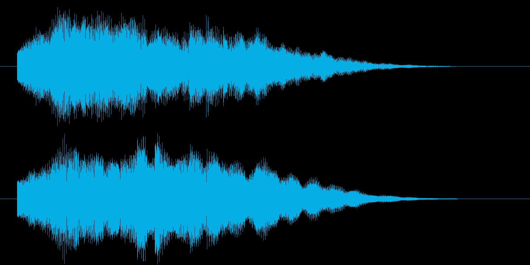 デジタル音のベル風ジングルの再生済みの波形
