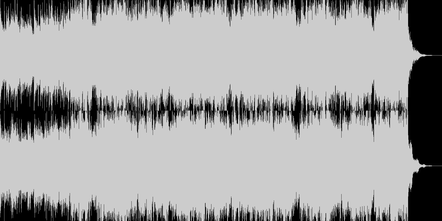 アジアンテイストのオケに切ないギターソロの未再生の波形
