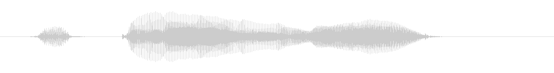 おかえり!の未再生の波形