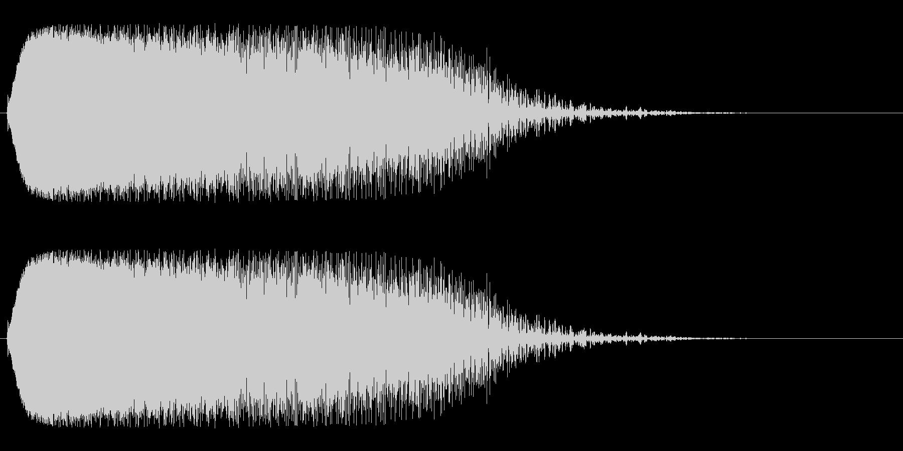 チューン(空間移動を思わせる効果音)の未再生の波形