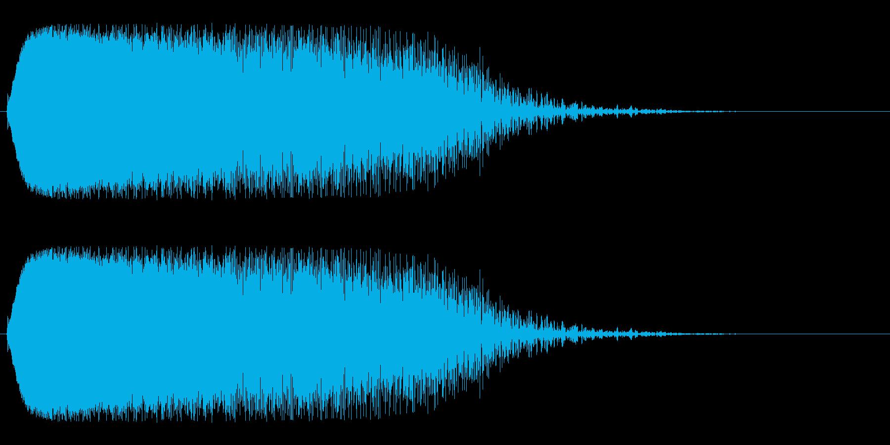 チューン(空間移動を思わせる効果音)の再生済みの波形