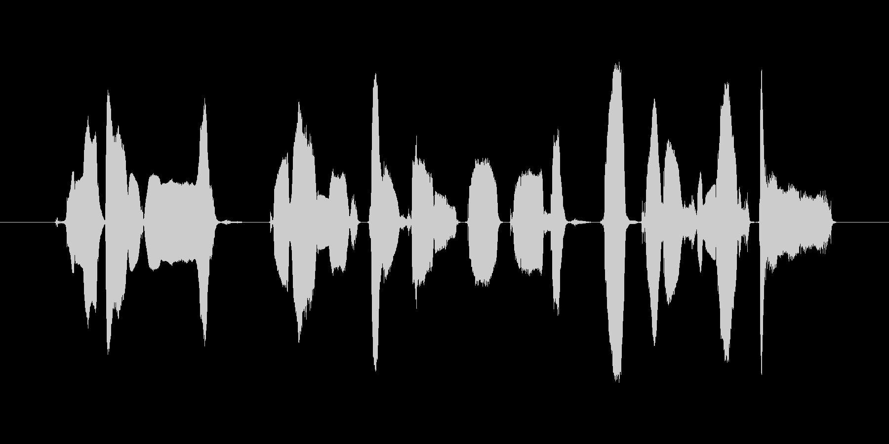 この番組はご覧のスポンサーの提供~の未再生の波形