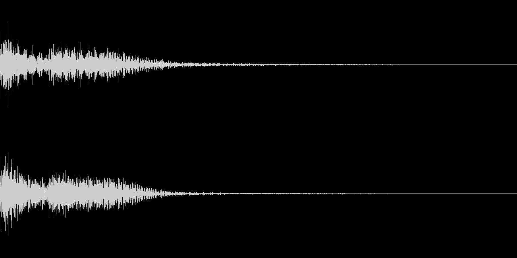 ブブー (不正解音)01の未再生の波形