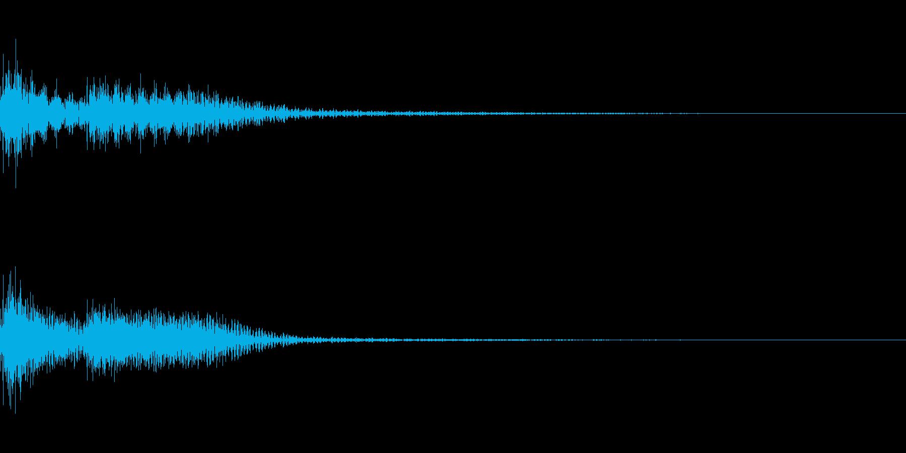 ブブー (不正解音)01の再生済みの波形