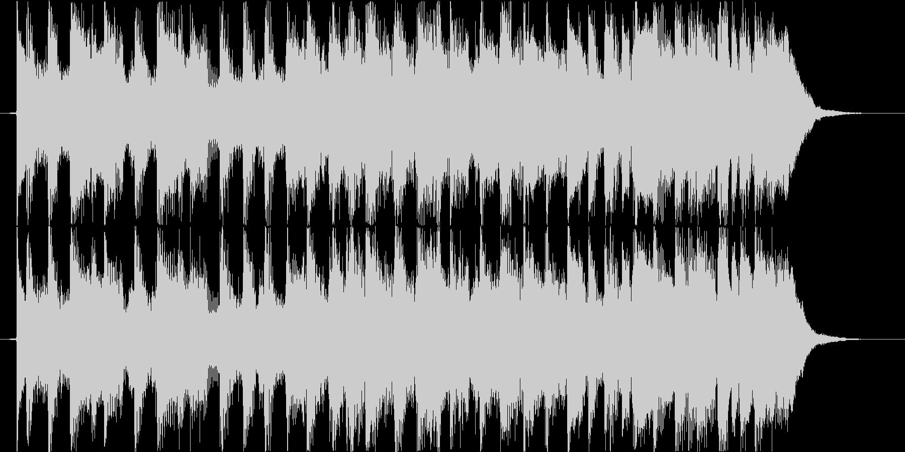 ジングルベル ギターVer の未再生の波形