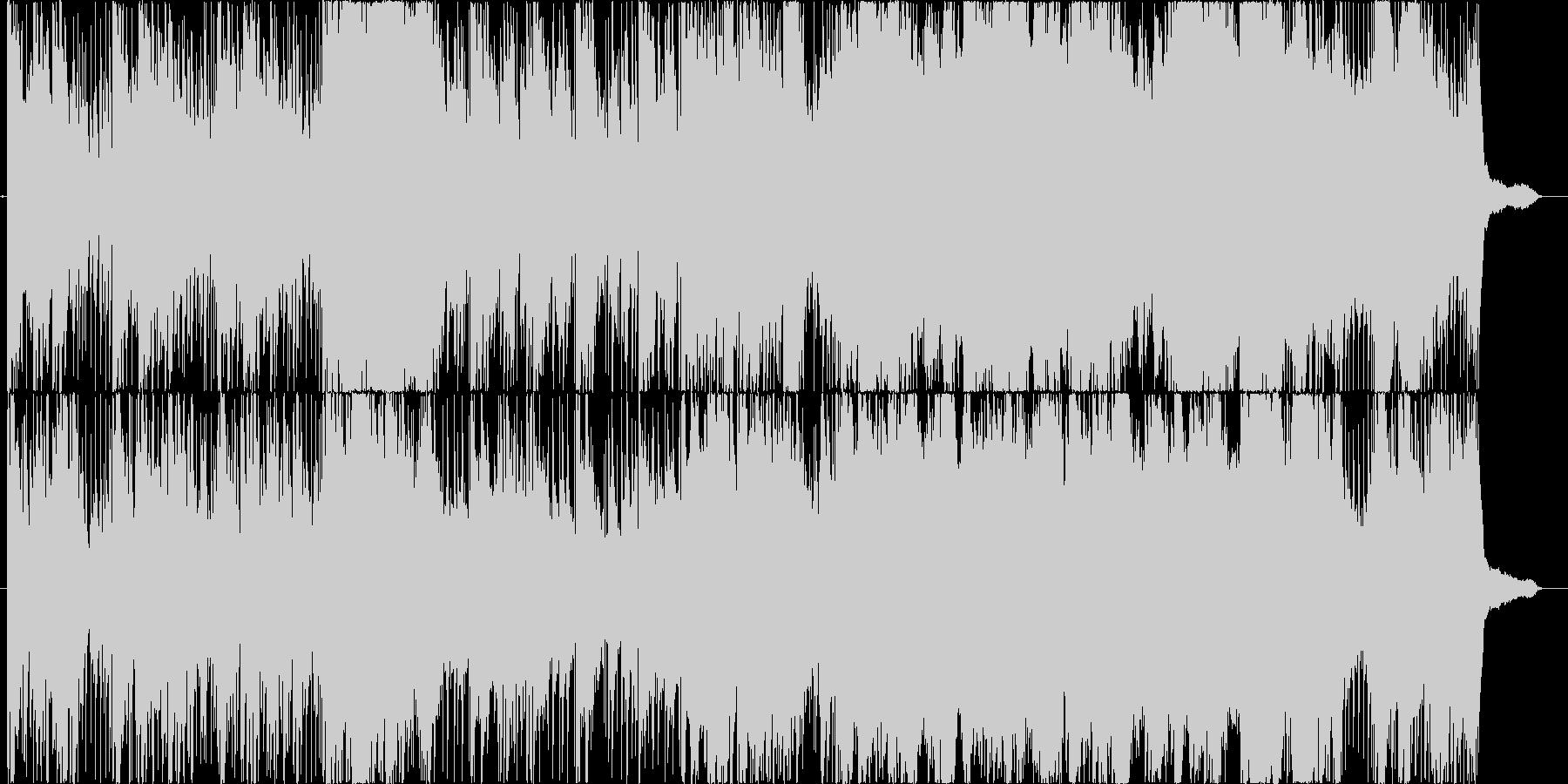 オーケストラ風の壮大な曲の未再生の波形