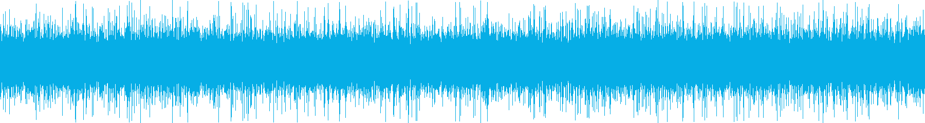 サラサラと川の流れる音の再生済みの波形