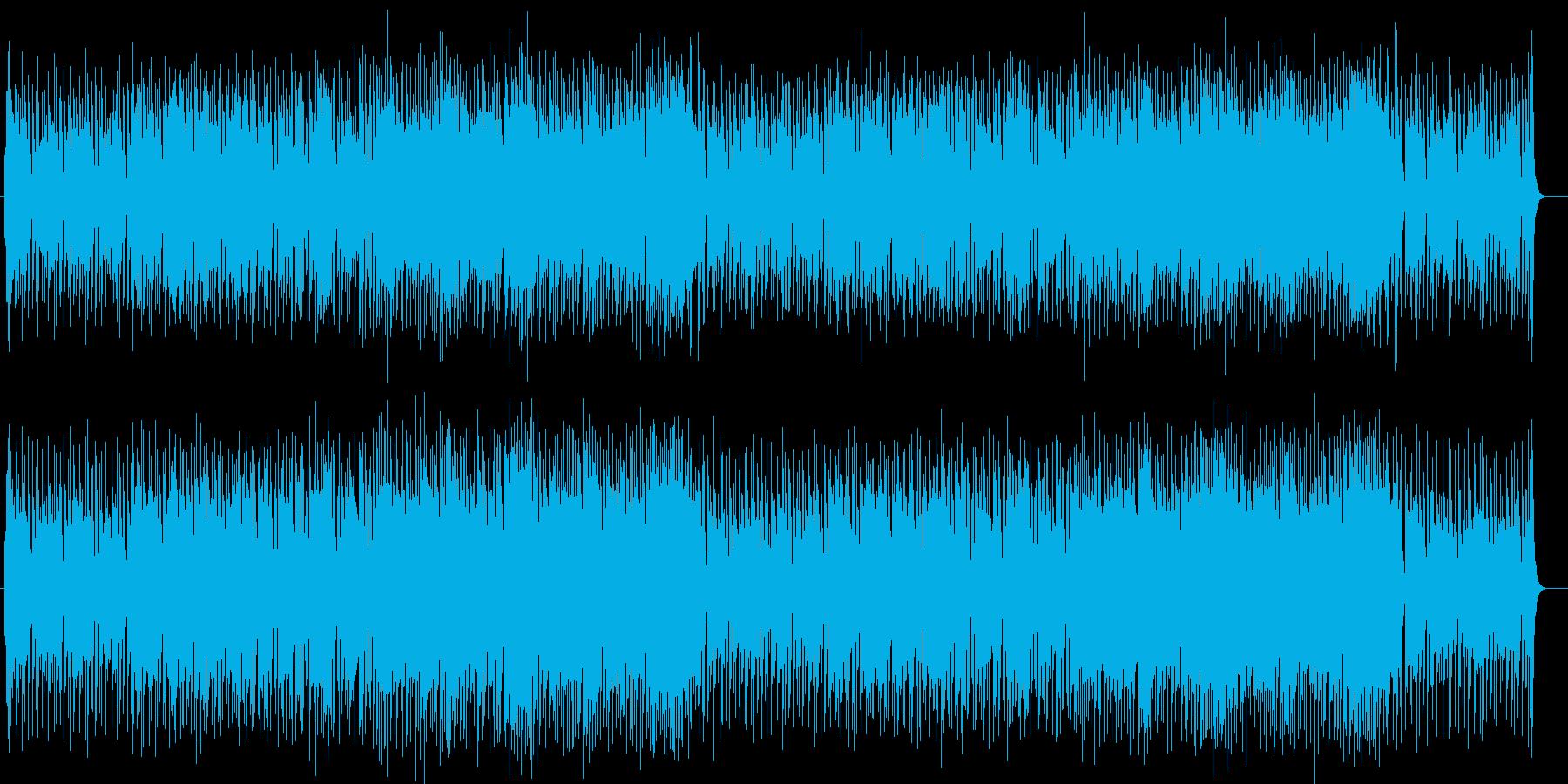 明るく爽やかなシンセサイザー曲の再生済みの波形