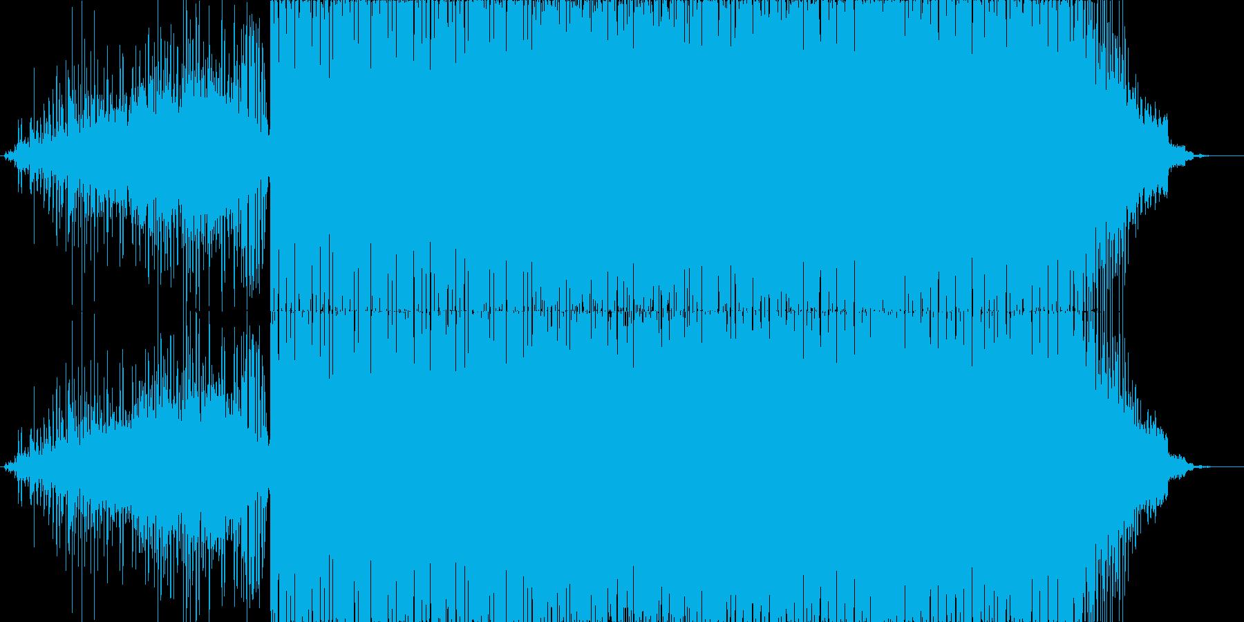 TB-303を使用したテクノの再生済みの波形