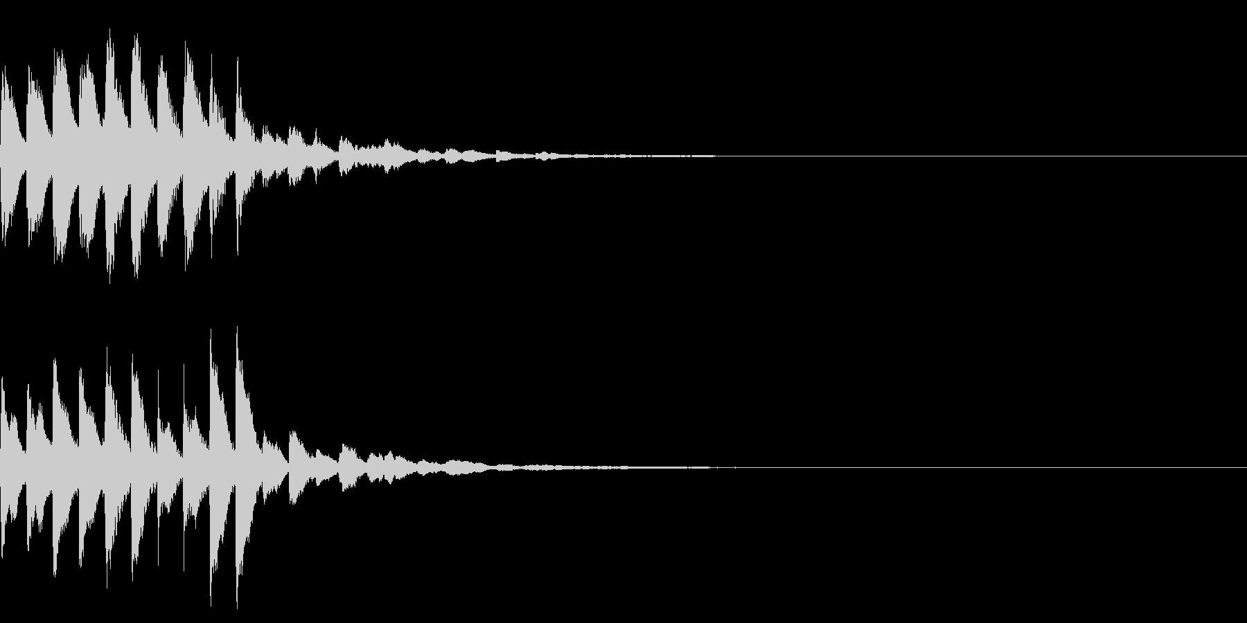 着信音2 キラキラのマリンバ スワイプの未再生の波形