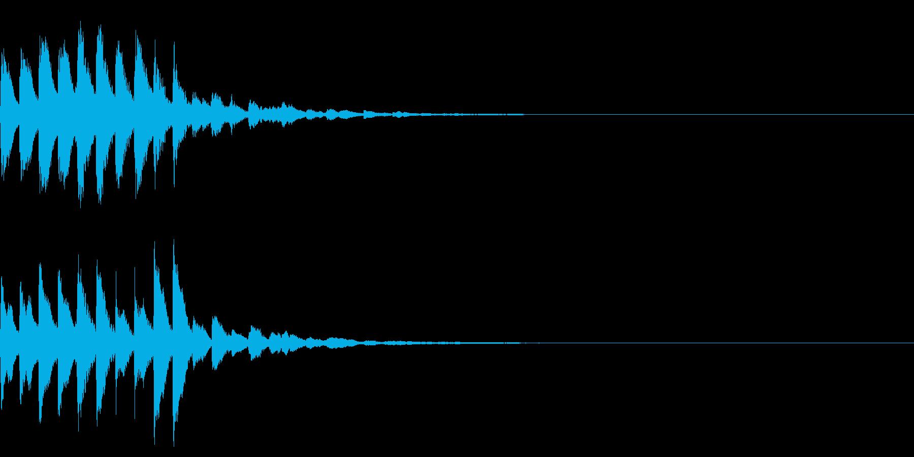 着信音2 キラキラのマリンバ スワイプの再生済みの波形