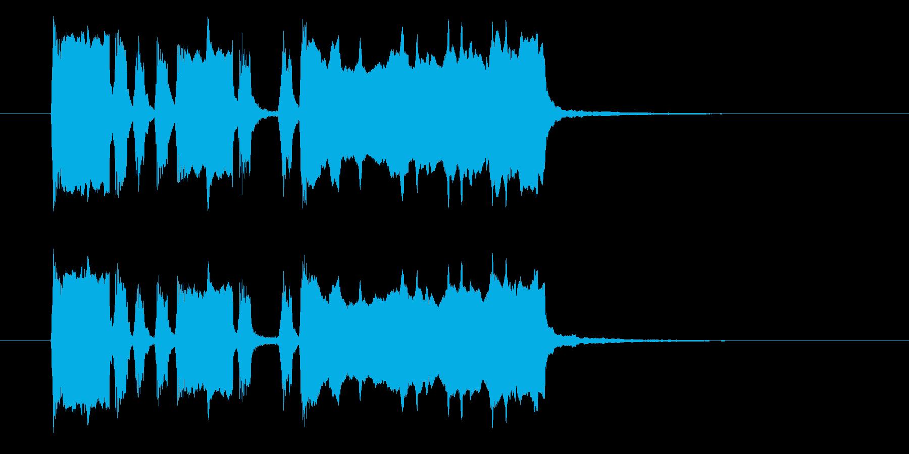 ファンファーレ(ラッパ、中音域)の再生済みの波形