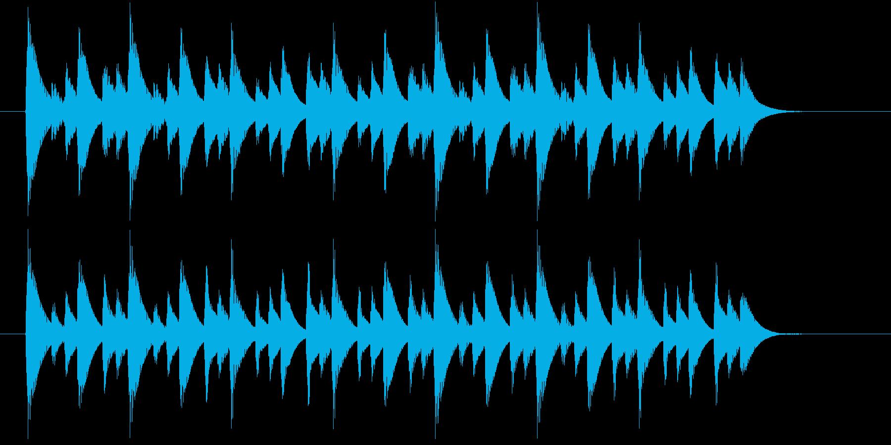 ほのぼのとした場面に使えるジングルの再生済みの波形