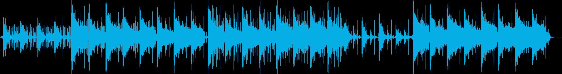 テック系アンビエントミニマルビート曲の再生済みの波形