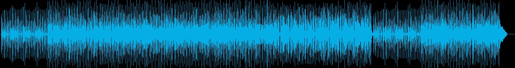 明るく楽しいポップス曲の再生済みの波形